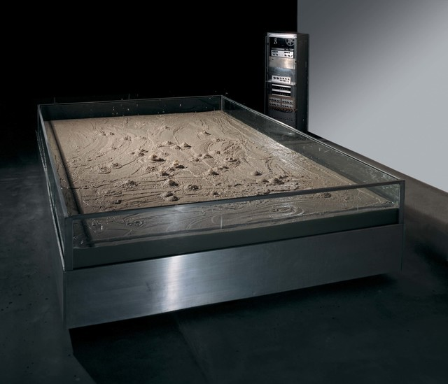 Robert Rauschenberg, 'Mud Muse', 1968-1971, Bentonite mixed with water in aluminum-and-glass vat, with sound-activated compressed-air system and control console, Robert Rauschenberg Foundation