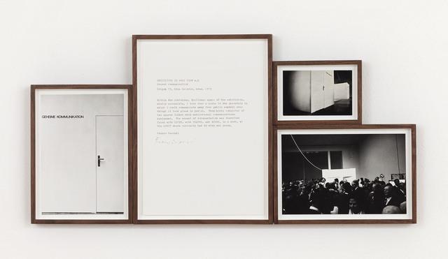 , 'Esposizione in Tempo Reale n.5, Comunicazione segreta,' 1974, P420