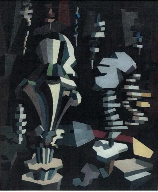 , 'Composition cubiste,' 1913-1915, Waterhouse & Dodd