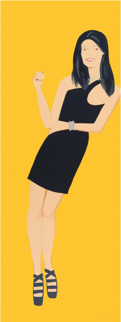 , 'Alex Katz, Black Dress (Yi),' 2015, Oliver Cole Gallery