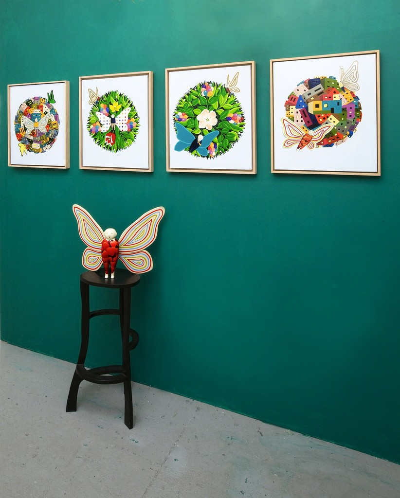 Become a Butterfly by Yun-Mo Ahn at Valerie Goodman Gallery