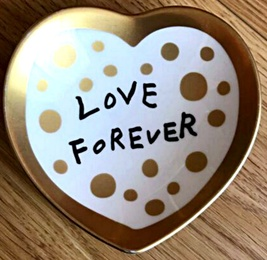Love Forever Ceramic Bowl (VIP Gold Edition)