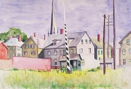 , 'Railroad Gates, Gloucester,' 1928, Edward Hopper House