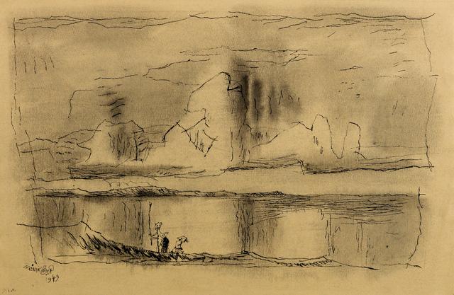 Lyonel Feininger, 'Untitled (Three Children on the Shore)', 1949, Moeller Fine Art