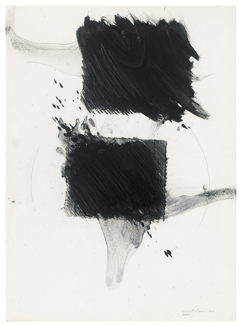 Takesada Matsutani, 'untitled', 1984, Drawing, Collage or other Work on Paper, Graphite and turpentine on paper, Japan Art - Galerie Friedrich Mueller