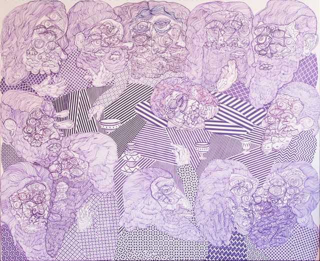 , 'Last Supper (Purple),' 2015, Kavi Gupta
