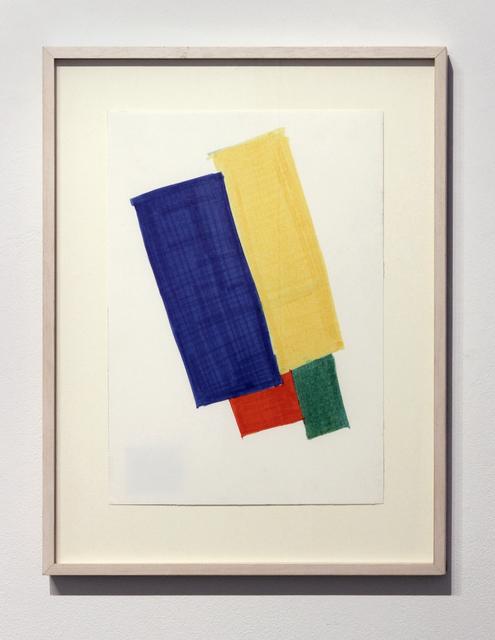 , 'Farbige Skizze (Colored Sketch),' 1965, Josée Bienvenu