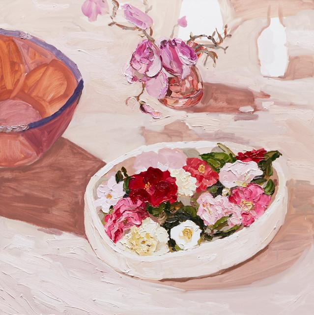 , 'Bowl of Camelias,' 2015, Olsen Irwin
