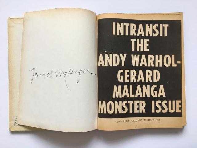 , 'Intransit The Andy Warhol-Gerard Malanga Monster Issue Signed by Gerard Malanga,' 1968, Joseph K. Levene Fine Art, Ltd.