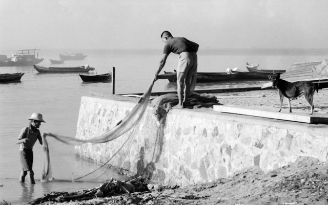 , 'Cleaning the Fishing Net,' 1969, Yeo Workshop