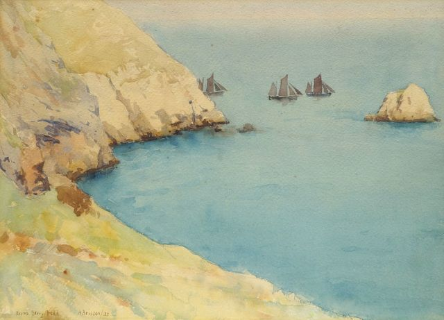 Arthur Briscoe, 'Round Berry Head, near Torquay', Painting, Watercolour, Roseberys