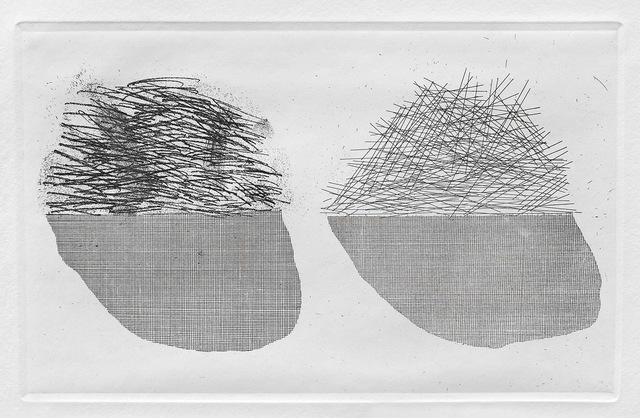 David Hockney, 'Straw on the Left,  Gold on the Right', 1969, Print, Etching and aquatint, Goldmark Gallery