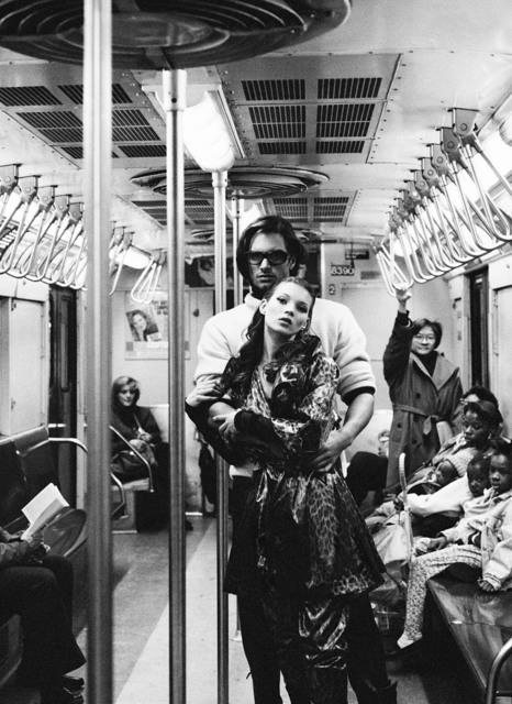Stephanie Pfriender Stylander, 'Kate Moss and Marcus Schenkenberg, Harper's Bazaar Uomo, New York', 1992, Photography, Archival Pigment Print, Staley-Wise Gallery