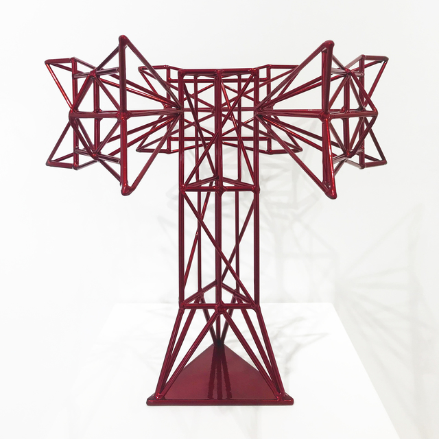 , 'Crimson Tower with Pointed Antennas, Trophy Series 1/4,' 2017, OTA Contemporary