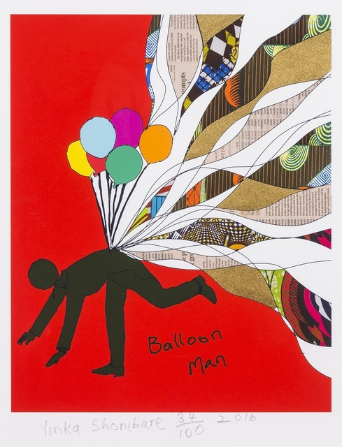 Yinka Shonibare CBE, 'Balloon Man', 2016, Print, Photogravure with screenprint in colours, Forum Auctions