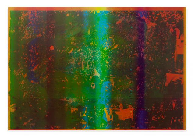 Emmanuel Van der Auwera, 'Memento 24 (Study for Tehran I)', 2020, Painting, Newspaper .3mm aluminum offset plate mounted on aluminum frame, Harlan Levey Projects