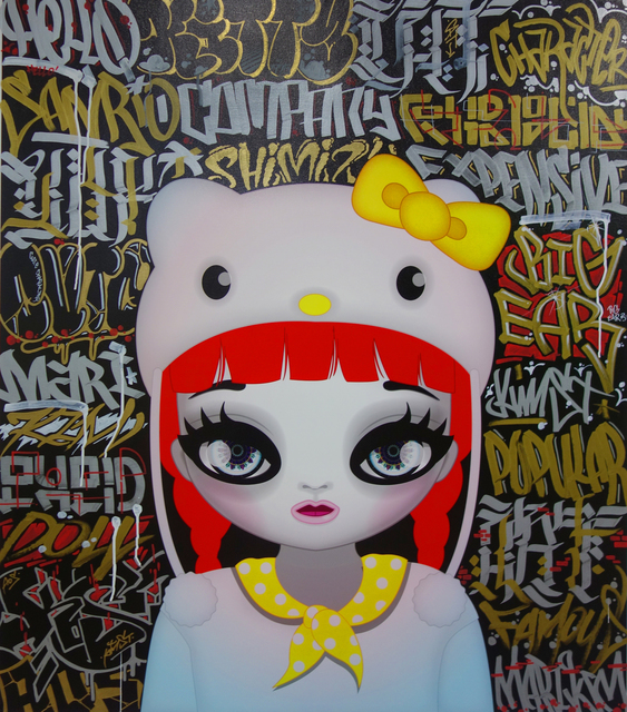 , 'Hello Kitty Black,' 2016, Pontone Gallery