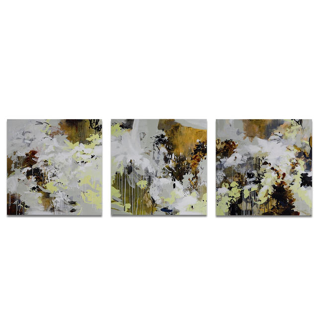 , 'INDELIBLE I, II, III (TRIPTYCH),' , Exhibit by Aberson