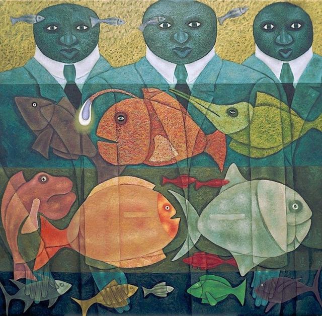 , 'Of Fish and Men,' 2019, One Off Contemporary Art Gallery