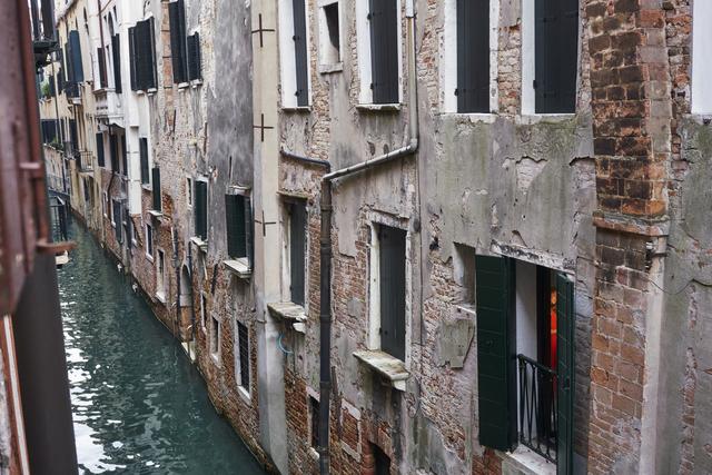 , 'Red Dress, across the canal, San Marco, Venice, October,' 2017, Jackson Fine Art