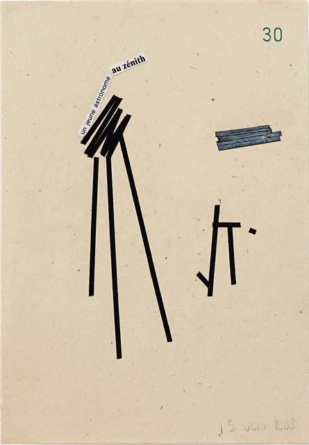 , 'un jeune astronome au zénith,' 1983, Galerie Heike Strelow
