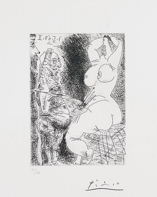 Pablo Picasso, 'Vieux Peintre, Modèle et Spectateur (Old Painter, Model and Spectator), pl. 68 from Séries 347', 1968, Phillips