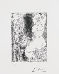 Pablo Picasso, 'Vieux Peintre, Modèle et Spectateur (Old Painter, Model and Spectator), pl. 68 from Séries 347,' 1968, Phillips: Evening and Day Editions