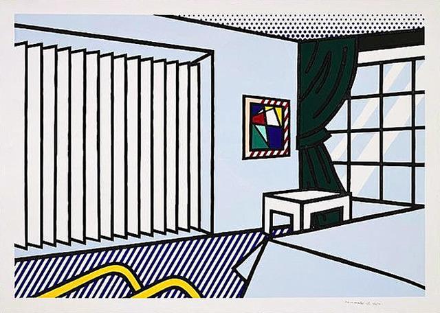 Roy Lichtenstein, 'BEDROOM', 1991, Print, Woodcut & screenprint on Museum Board, Marcel Katz Art