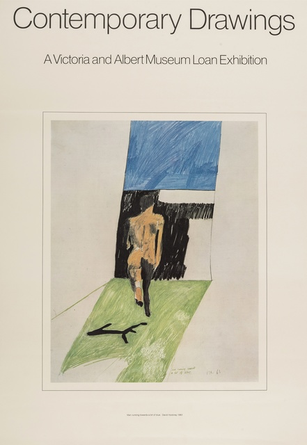 David Hockney, 'Poster for Contemporary Drawings: A Victoria & Albert Museum Loan Exhibition', 1974, Forum Auctions
