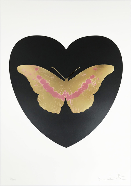 Damien Hirst, 'I Love You - Black/Cool Gold/Loganberry', 2015, Hamilton-Selway Fine Art