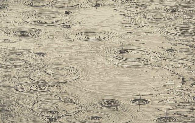 Li Trieb, 'Regen XI, 28.9.2018 - 8:29 bis 5.6.2019 - 16:59 (6224 Minuten gezeichnete Zeit)', 2019, Galerie Commeter / Persiehl & Heine