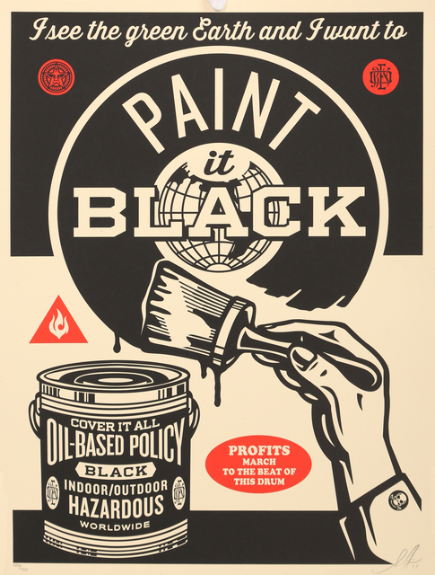 Shepard Fairey (OBEY), 'Paint it black', 2011, Fine Art Auctions Miami