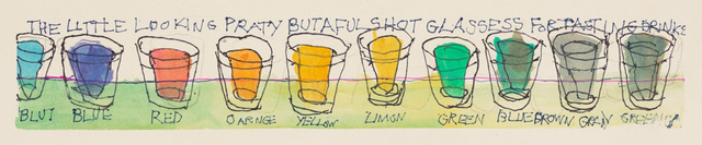 , 'Untitled (The Little Looking Party Butaful Shot Glassess for Tasting Drinks),' 2018, Creativity Explored