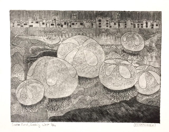 , 'Suez Canal,' 2019, Greenhut Galleries