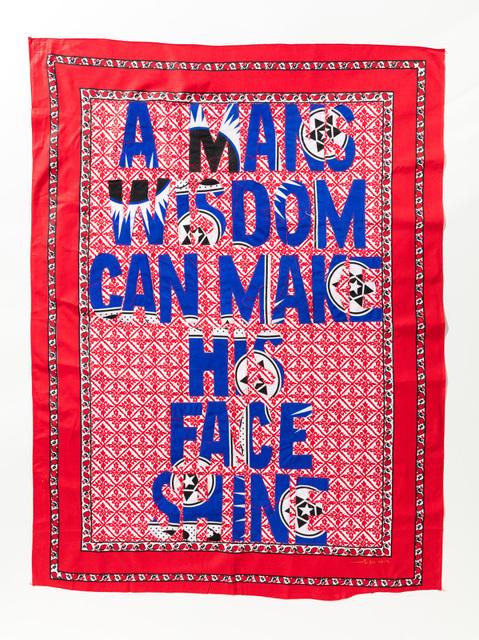 , 'A Man's Wisdom,' 2017, Afronova