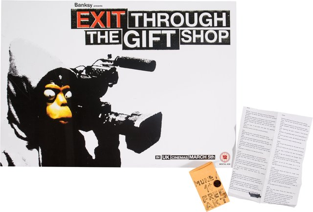 After Banksy, 'Exit Through the Gift Shop and Free Money/Freen Art (two works)', c. 2015, Heritage Auctions