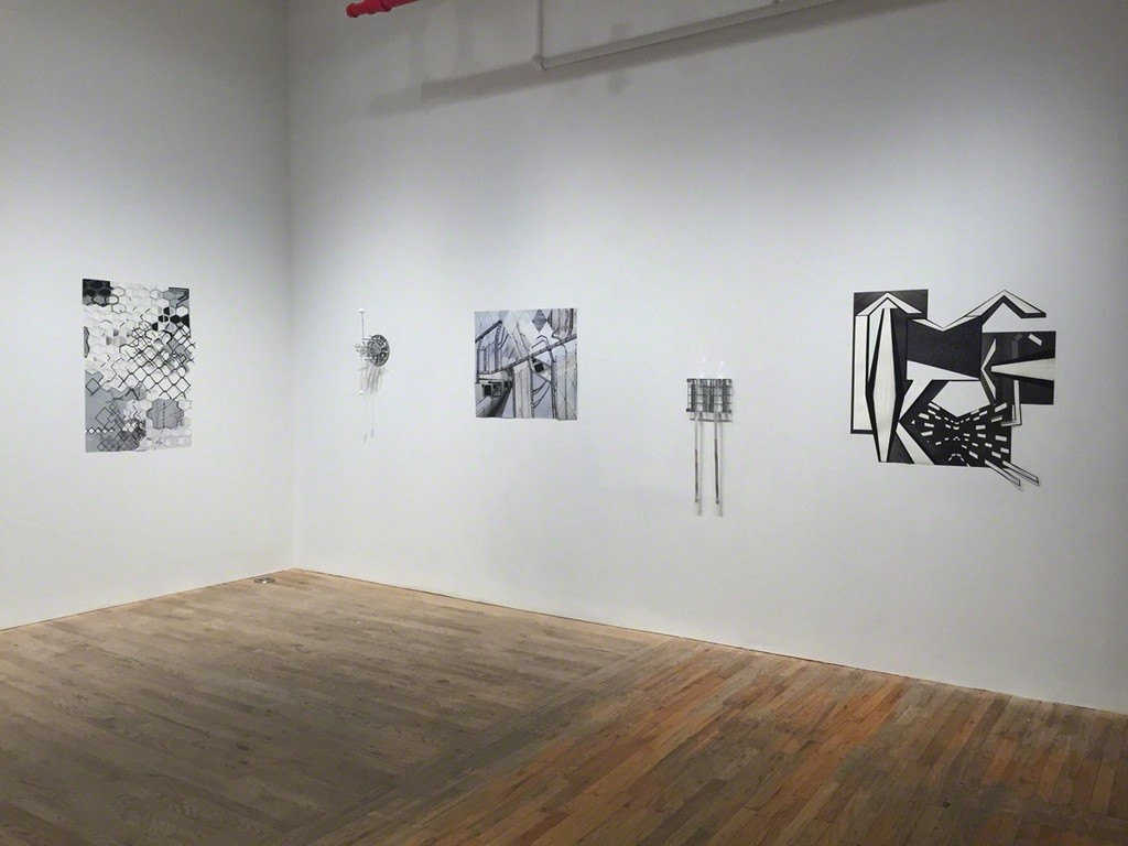 "Diana Cooper works installed in ""Grayscale"""