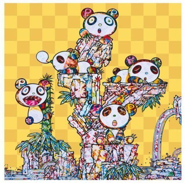 Takashi Murakami, 'Panda Cubs Panda Cubs', 2019, Print, 4c offset + cold stamp, Lougher Contemporary
