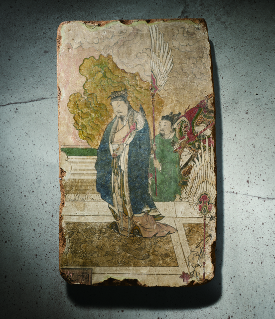 , 'A Polychrome Fresco Fragment of Rectangular Form Painted with a Scholar on a Terrace 元晚期|明早期14|15世紀 灰泥彩繪文人與侍者圖壁畫殘部,' China: late Yuan|early Ming Dynasty-14|15th century, Rasti Chinese Art