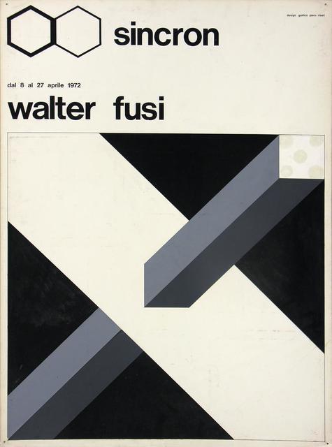 Walter Fusi, 'Bozzetto Sincron', 1972, Itineris