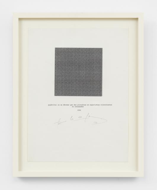 , 'quadrille,' 1992, Simon Lee Gallery