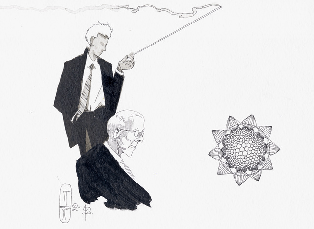 Pavel Pepperstein, 'A Traitor to Hell (Illustration for the book The Secret of our Time)', 2012, Drawing, Collage or other Work on Paper, Watercolour, ink and marker on paper, KEWENIG