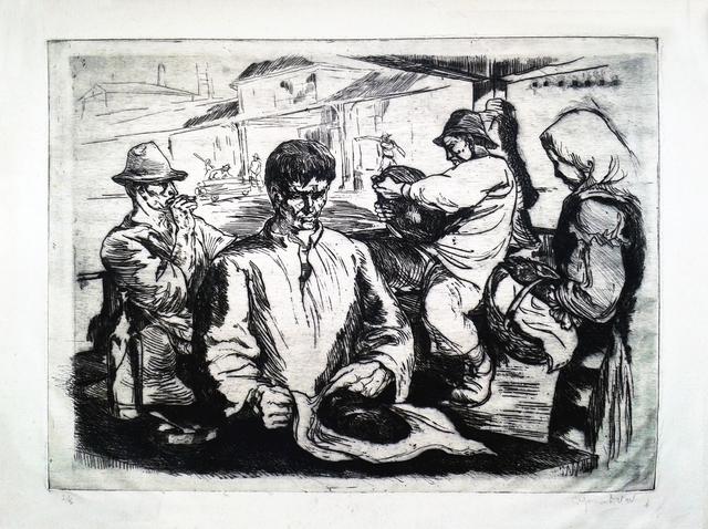 Octav Grigorescu, 'Maramureș workers', 1958, Nasui Collection & Gallery