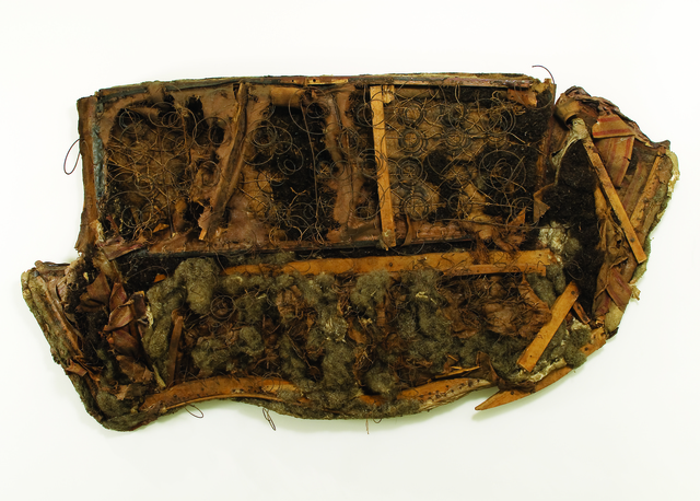 RAPHAEL MONTAÑEZ ORTIZ, 'Archaeological Find #21: The Aftermath', 1962, Mixed Media, Destroyed sofa (wood, cotton, wire, vegetable fiber and glue) on wood backing, El Museo del Barrio