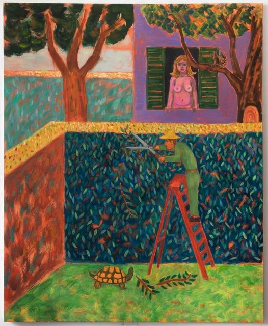 , 'Man Trimming a Bush,' 2017, Galerie Ceysson & Bénétière