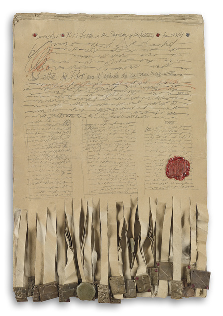 Barbara Chase-Riboud, 'Untitled', 1991, Mixed Media, Mixed media and assemblage, Swann Auction Galleries