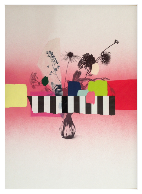 , 'Paper Bouquet (pink + stripes),' 2017, Newzones