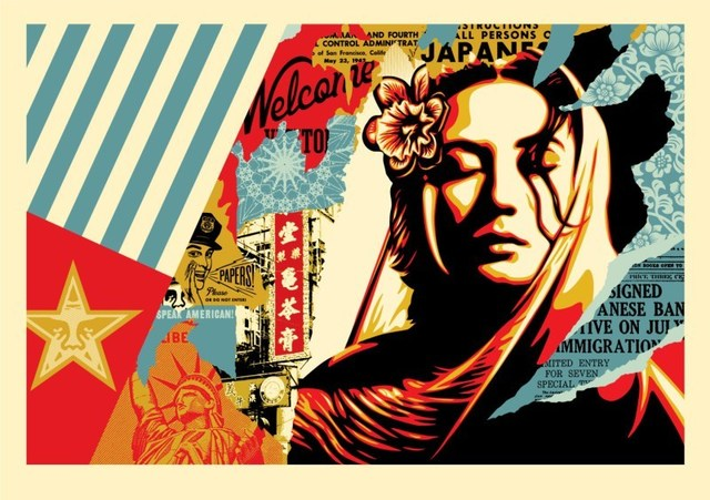 Shepard Fairey, 'Welcome Visitor Large Format', 2018, Black Book Gallery