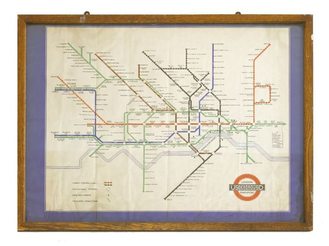Harry Beck, 'A London Underground map', late 1930s, Sworders