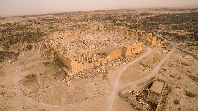 , 'vue aerienne Palmyre,' 2015, RMN Grand Palais